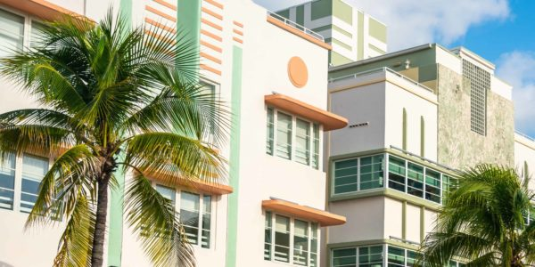 Art Deco building in the Art Deco District, South Beach, Miami